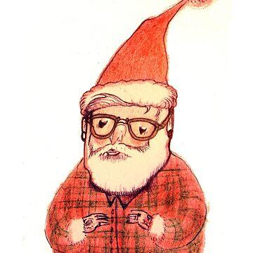 Hipster Santa by sarahcrawley