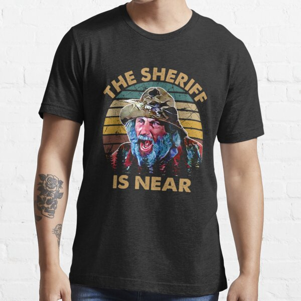 The sheriff is near blazing art saddles do it vintage gift for fans Essential T-Shirt