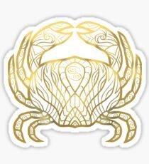 Cancer gold Sticker