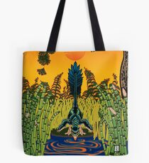 Troodon in the Rushes Tote Bag