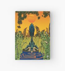 Troodon in the Rushes Hardcover Journal
