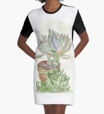 "Graptoveria ""Fred Ives"" Graphic T-Shirt Dress"