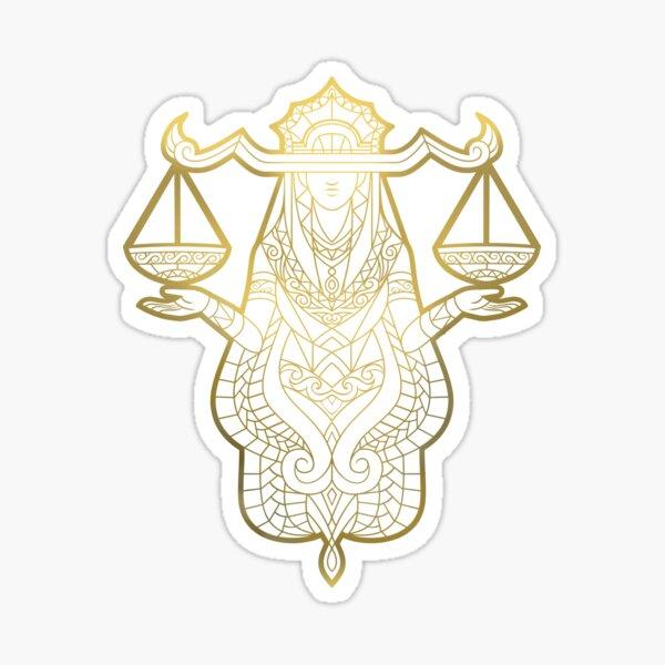 Libra gold Sticker