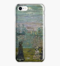 Maurice Brazil Prendergast (), PROMENADE WITH PARASOLS iPhone Case/Skin