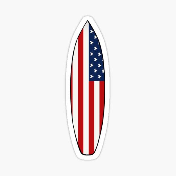 Surfboard (American Flag) Sticker