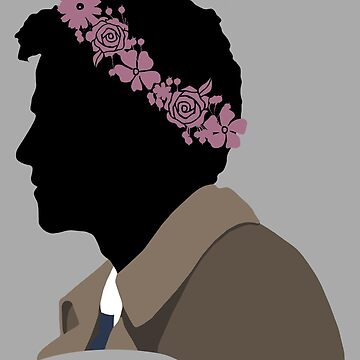 Castiel in a Flower Crown by pixelspin