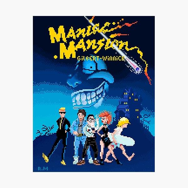 THE PIXELED MANIAC MANSION Lámina fotográfica