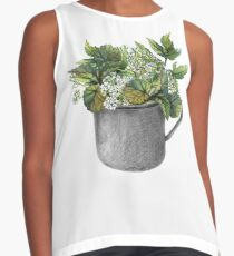 Mug with green forest growth Contrast Tank