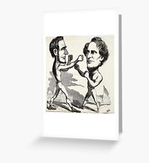 Morse. [Abraham Lincoln boxing with Jefferson Davis],  Greeting Card