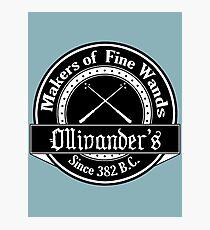 Ollivander's Wand Shop Logo Photographic Print