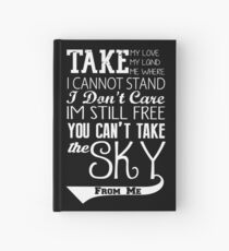 Firefly Theme song quote (white version) Hardcover Journal