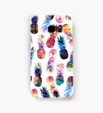 watercolor and nebula pineapples illustration pattern Samsung Galaxy Case/Skin