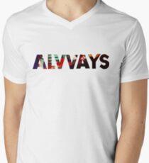 ALVVAYS Mens V-Neck T-Shirt
