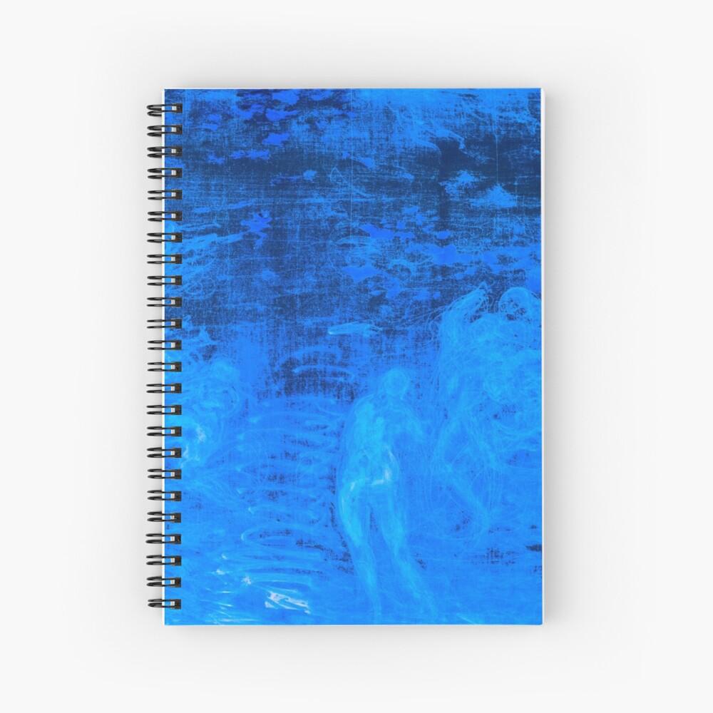 In liquid Indigo Spiral Notebook