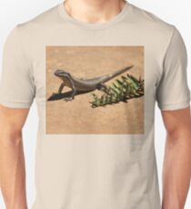 Interacting with wildlife - African Striped Skink Unisex T-Shirt