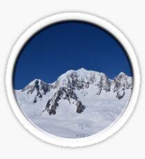 Mount Cook, New Zealand, Aerial Photo Sticker