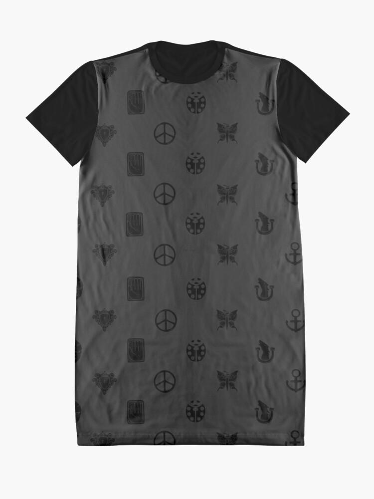 Vista alternativa de Vestido camiseta Bizarre Emblems [Ver. Negro]