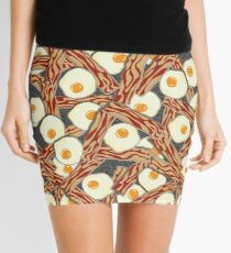 Bacon and Eggs Pattern Mini Skirt