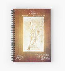 Statue If Liberty Original Patent By Bartholdi 1879 Spiral Notebook