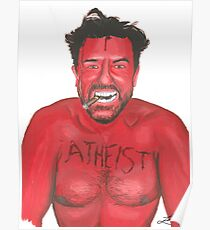 Ricky Gervais 'Atheist' Painting Poster