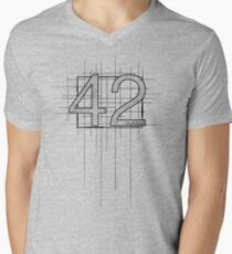 Hitchhiker's Guide to the Galaxy - 42 Men's V-Neck T-Shirt