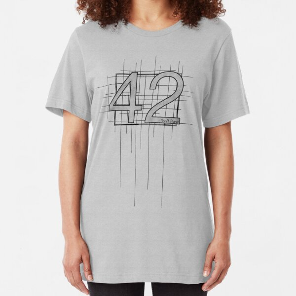 Hitchhiker's Guide to the Galaxy - 42 Slim Fit T-Shirt