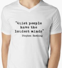 Ruhige Personen T-Shirt mit V-Ausschnitt für Männer
