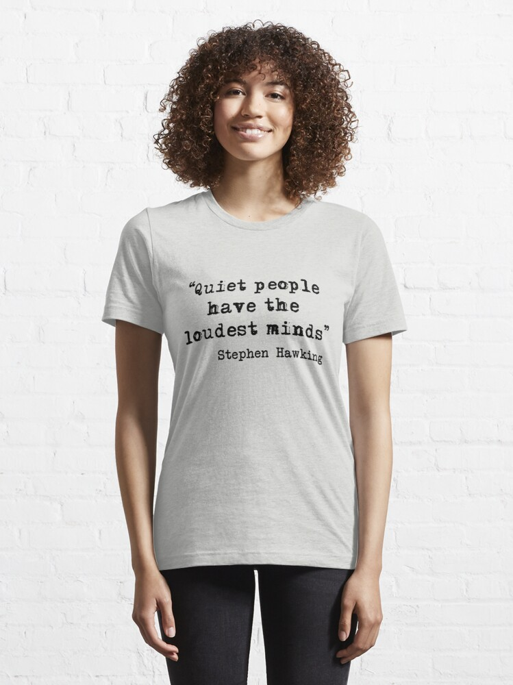 Alternate view of Quiet People Essential T-Shirt