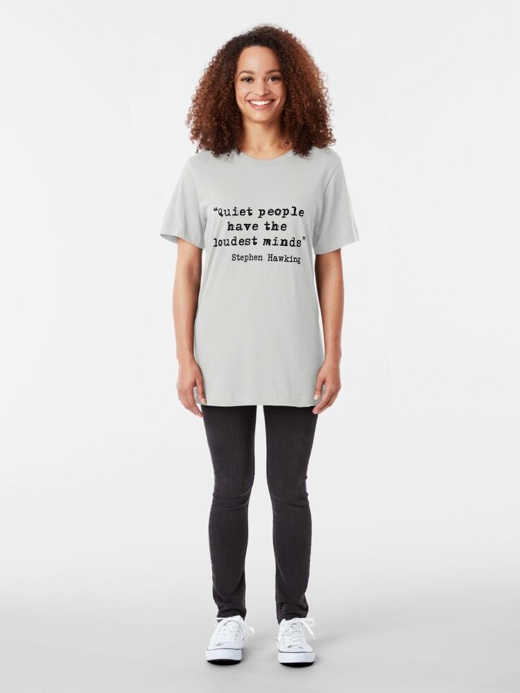 Alternative Ansicht von Ruhige Personen Slim Fit T-Shirt