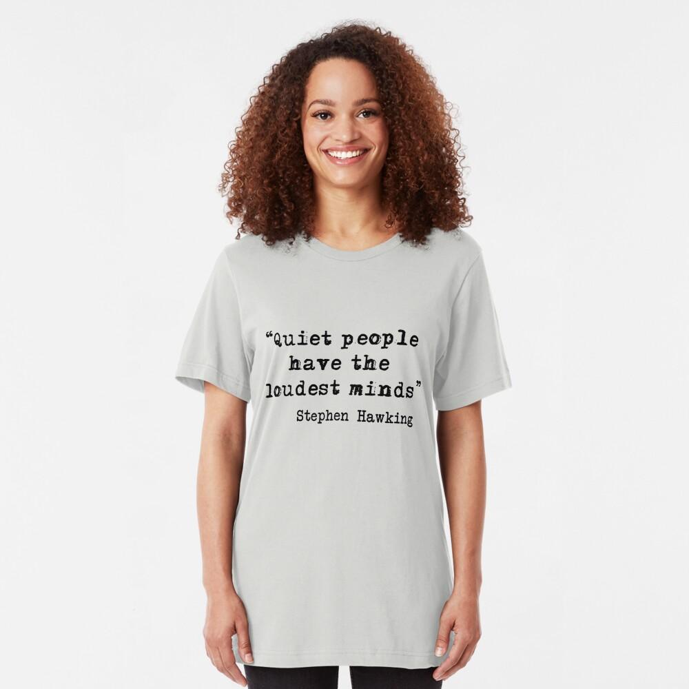 Ruhige Personen Slim Fit T-Shirt