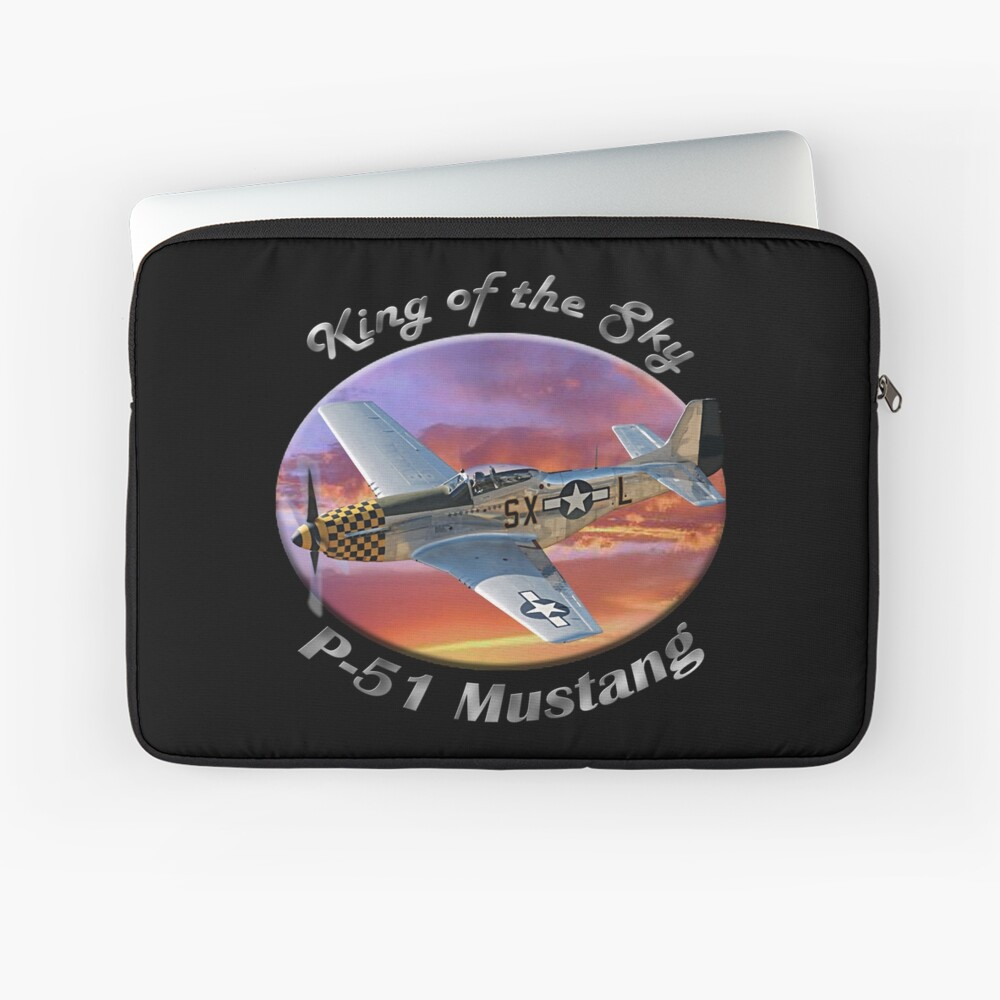 P-51 Mustang King of the Sky Laptop Sleeve