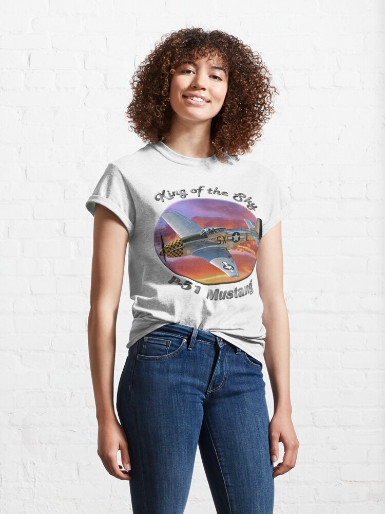 Alternate view of P-51 Mustang King of the Sky Classic T-Shirt