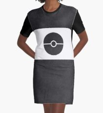 Pokemon CAMO Black Graphic T-Shirt Dress