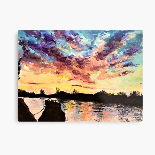 Thames sunset Metal Print