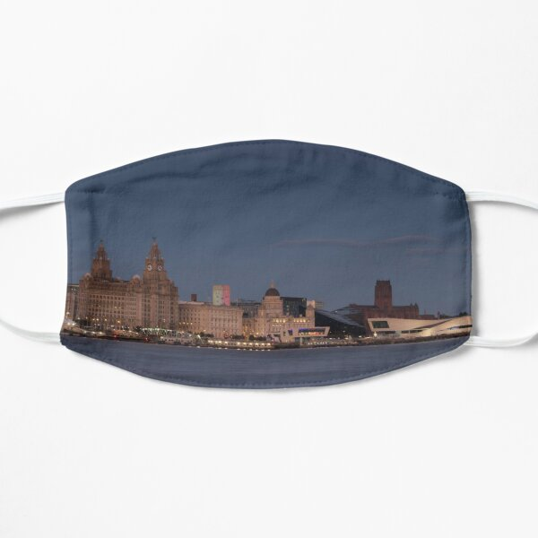 Liverpool Waterfront Evening Illumination Flat Mask