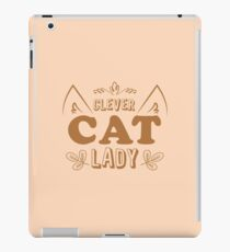 Clever cat lady iPad Case/Skin