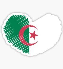 Algeria Flag Heart Sticker