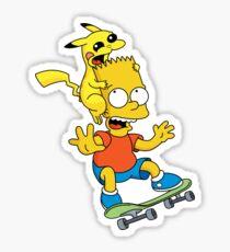 Skateboarding Is Not A Crime, Don't Bite Me ! Sticker