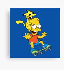 Skateboarding Is Not A Crime, Don't Bite Me ! Canvas Print