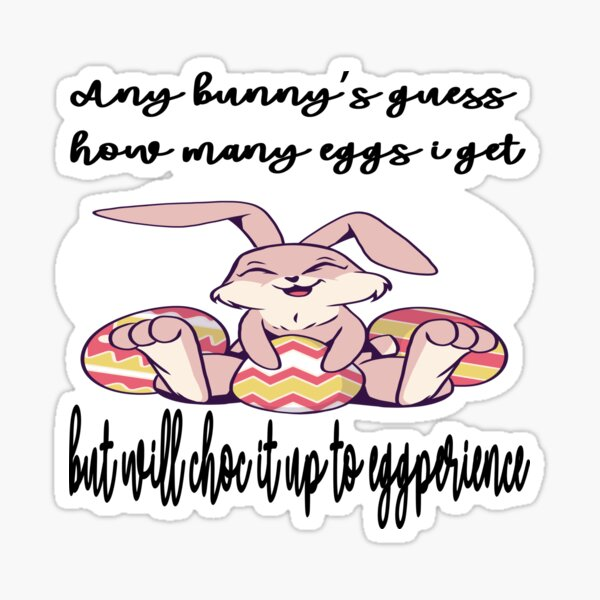 Any Bunnies Guess  Sticker