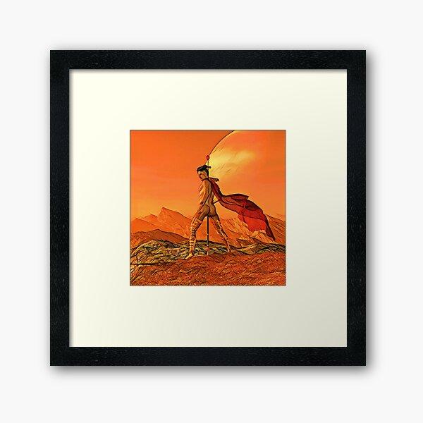 Male Erotica - Martian War Wizard Nude Framed Art Print