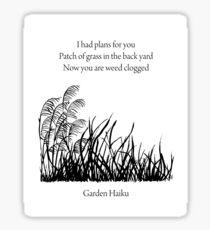 Garden Haiku Sticker