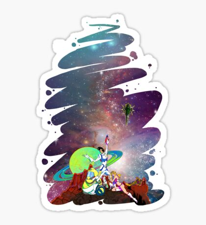 Dandy Vacation. In Space Sticker