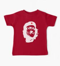 CORBYN, Comrade Corbyn, Leader, Labour Party, Politics, White on RED Kids Clothes