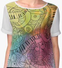 Sheet Music piano  Women's Chiffon Top