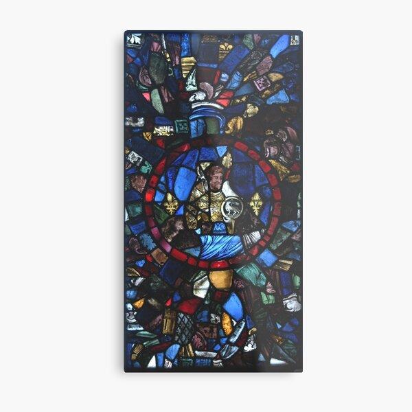 13 century leaded glass Metal Print