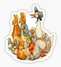 Children's Story Book Animals Sticker