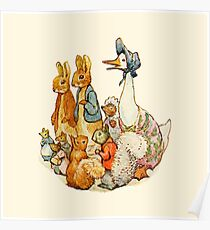 Children's Story Book Animals Poster