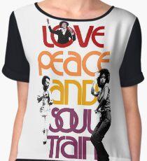 Love, Peace And Soul Train Women's Chiffon Top