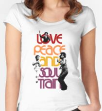 Love, Peace And Soul Train Women's Fitted Scoop T-Shirt